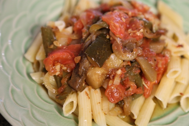 Ratatouille with penne