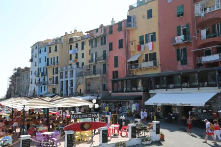 Houses along the seafront, Portovenere