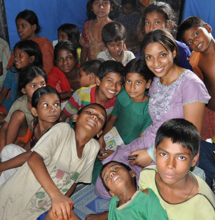 Me with street children participating in program