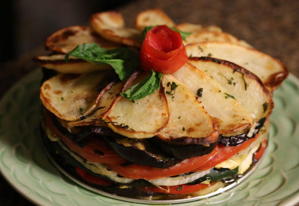 A Tiella, a southern Italian dish