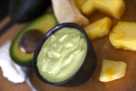 Banana, Pineapple and Avocado Pudding