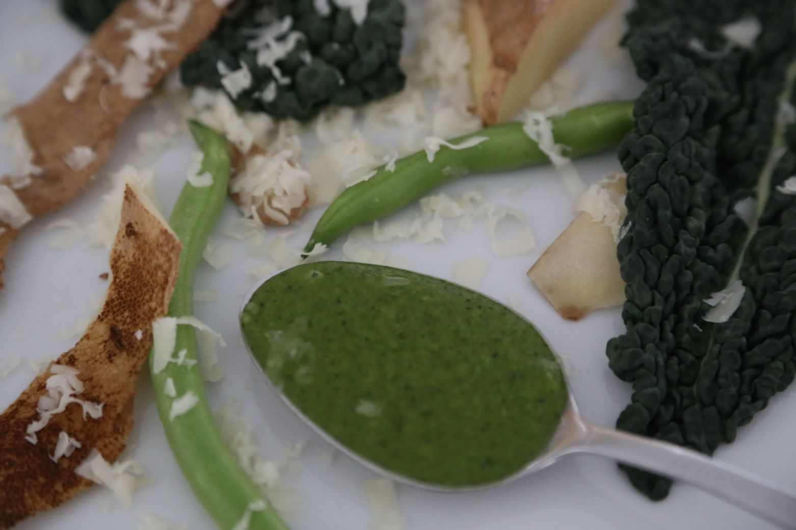 Green Bean, Kale and Potato Puree