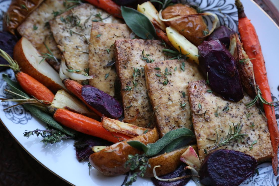 Roasted Tofu and Vegetables with Herbs