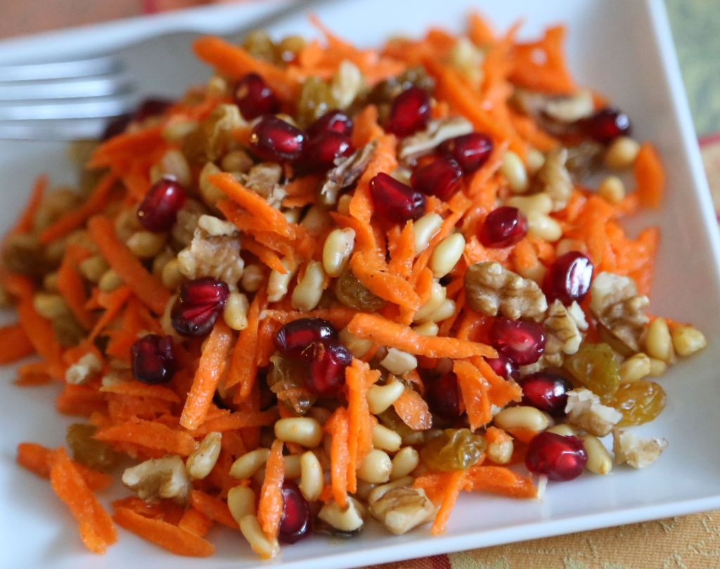 Kamut Salad with Carrots and Pomegranate