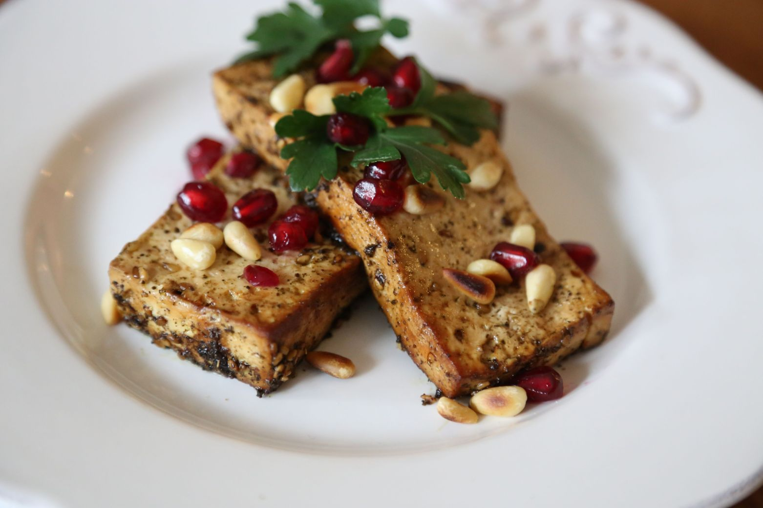 Za'atar and Pomegranate Roasted Tofu