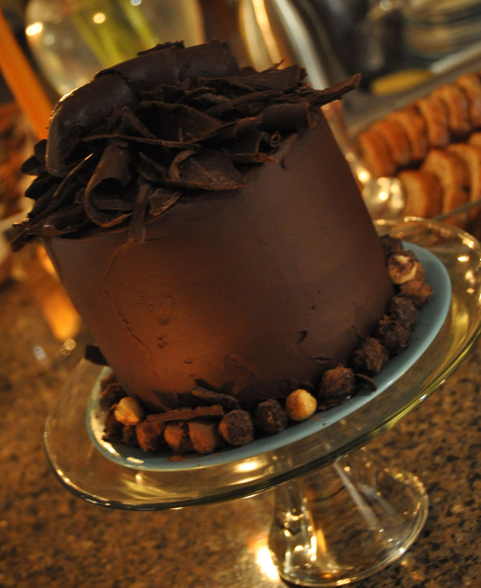 Belgian Chocolate Cake, tall