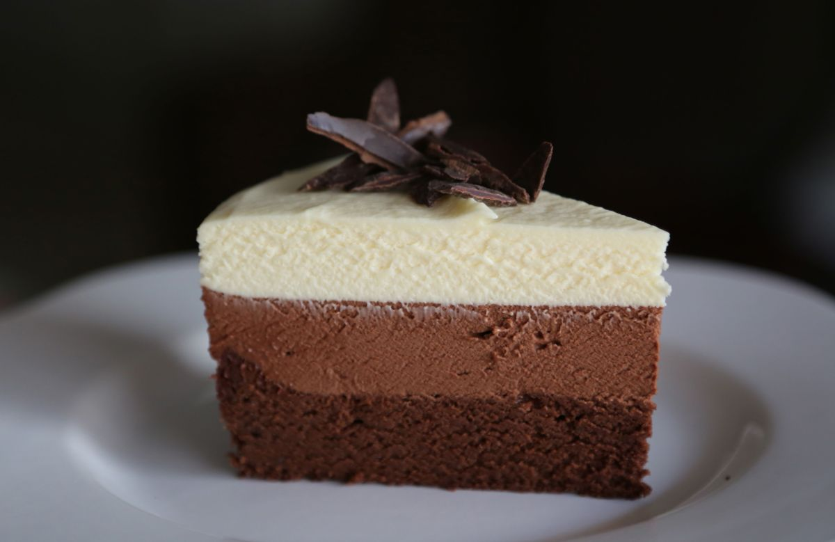 Triple Layer Chocolate Mousse Cake Recipe