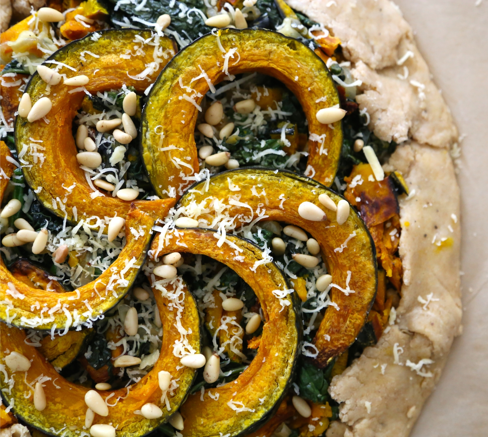 Kale and Kabocha Galette