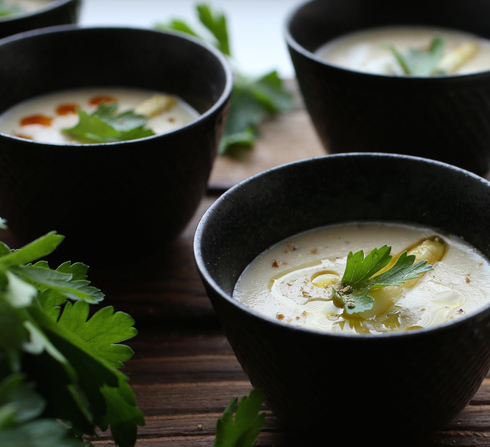 Creamy White Asparagus Soup