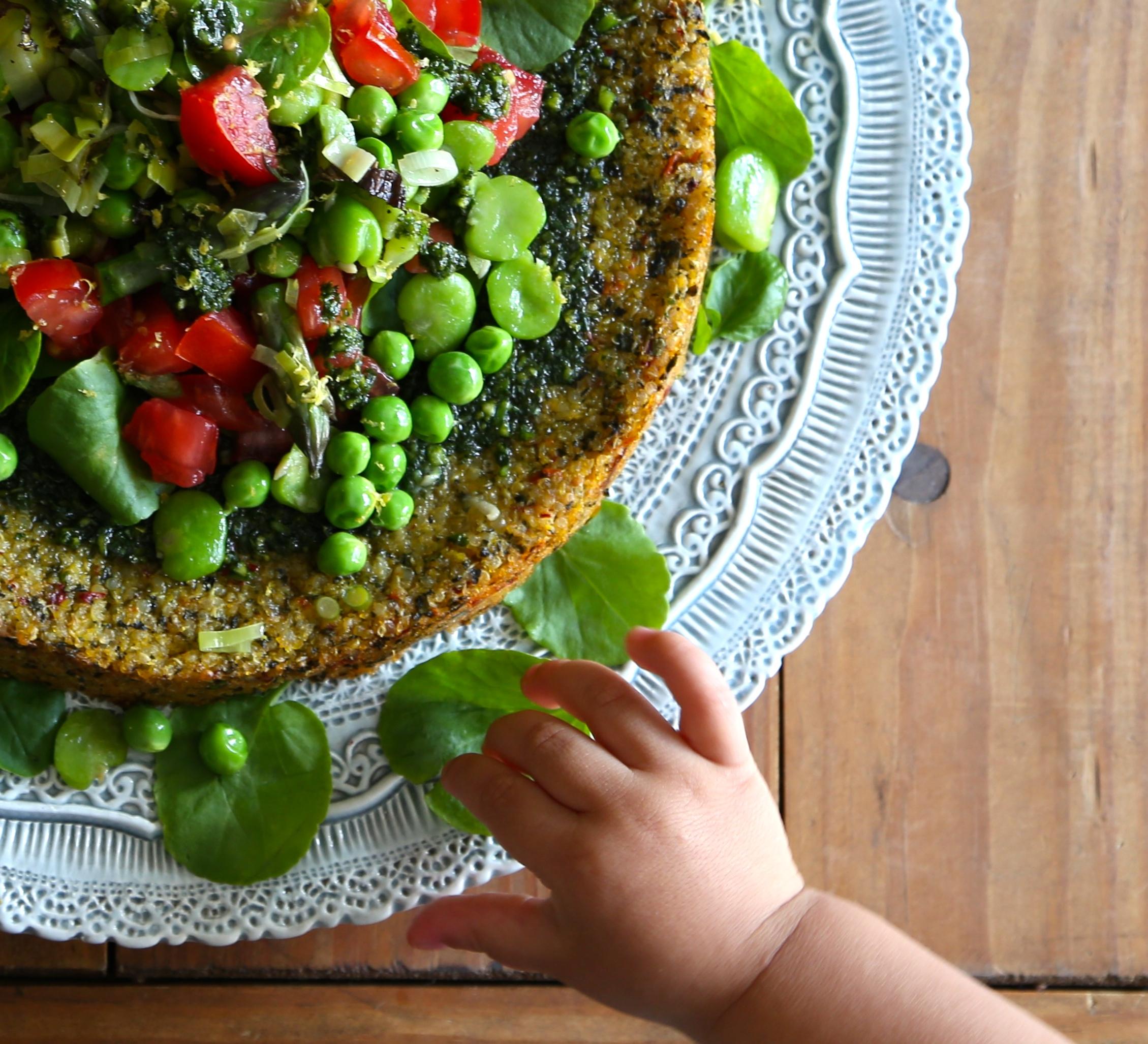 Quinoa Polenta Cake