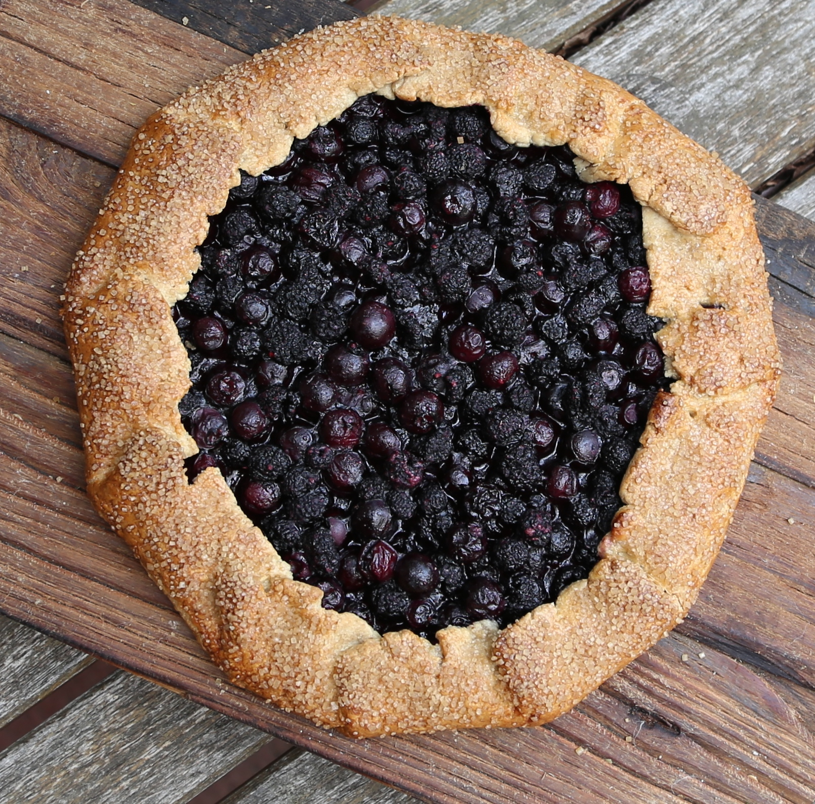 Rustic simplicity black raspberry and blueberry galette for Rustic simplicity