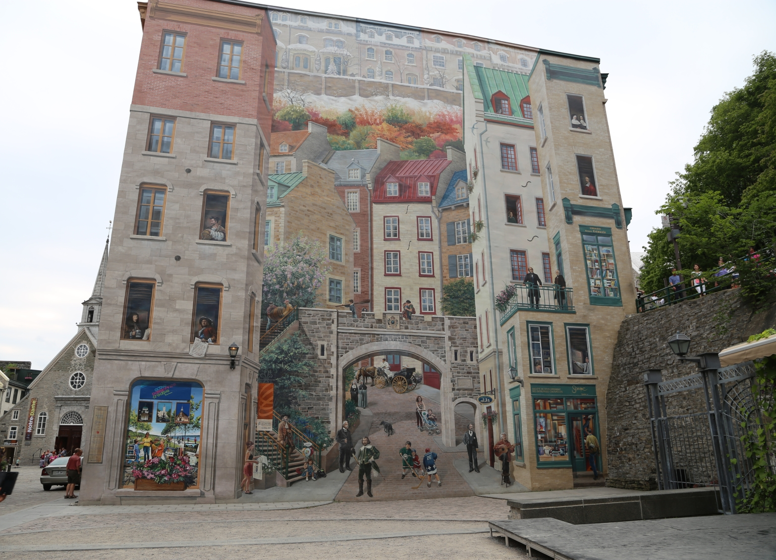 Trompe-l'oeil mural at Place Royale