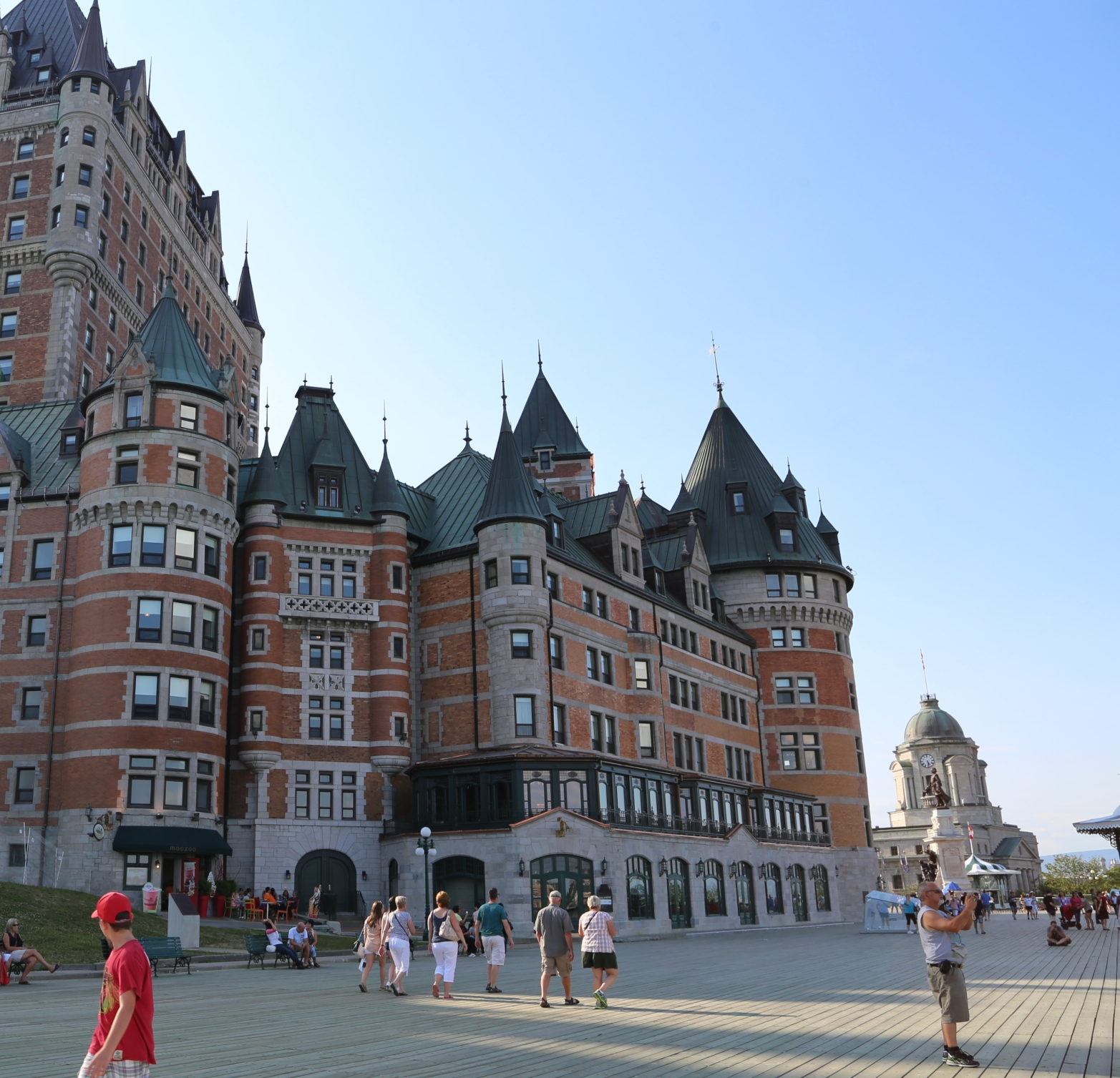 Terrasse Dufferrin and the Château Frontenac