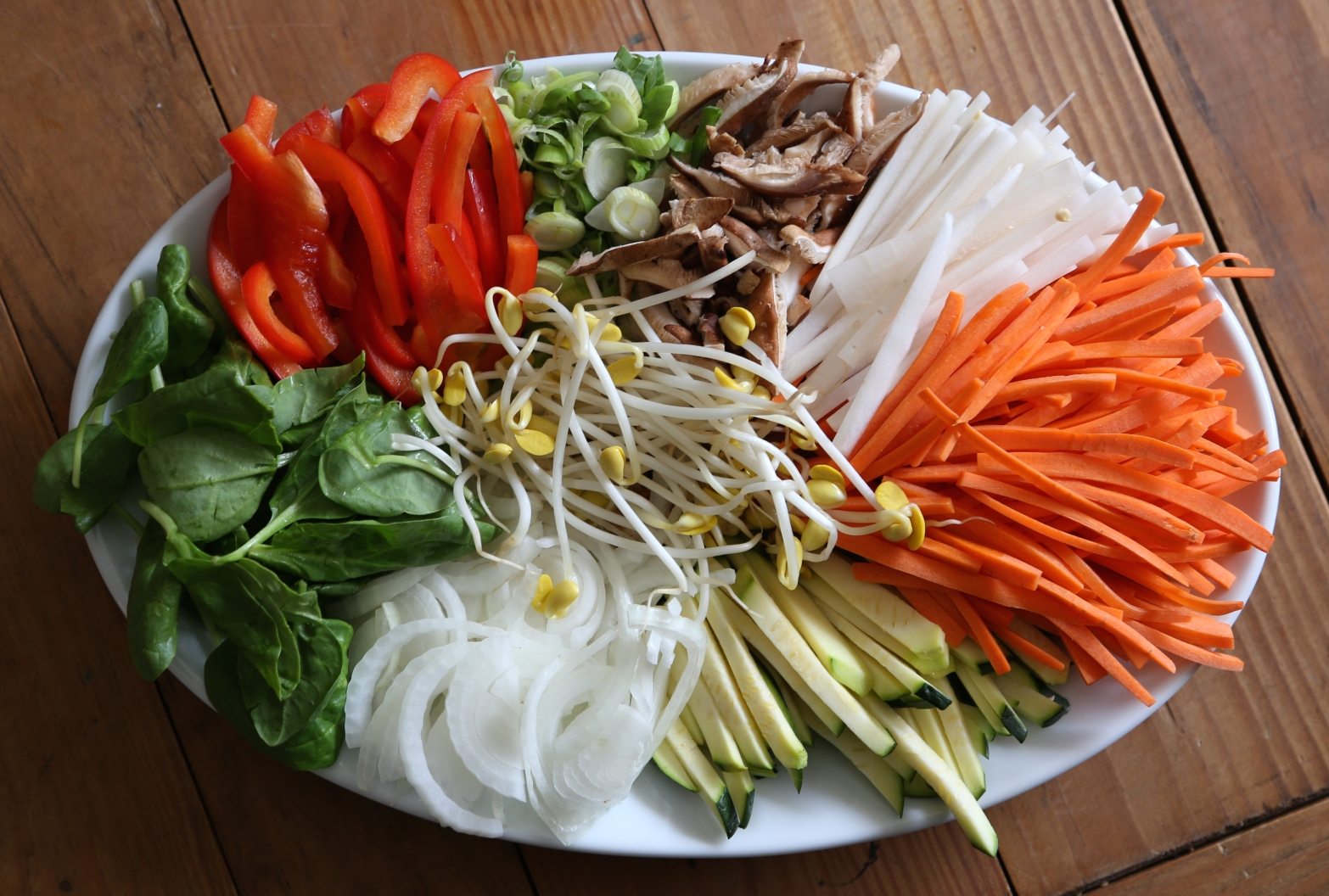 veggies for japchae