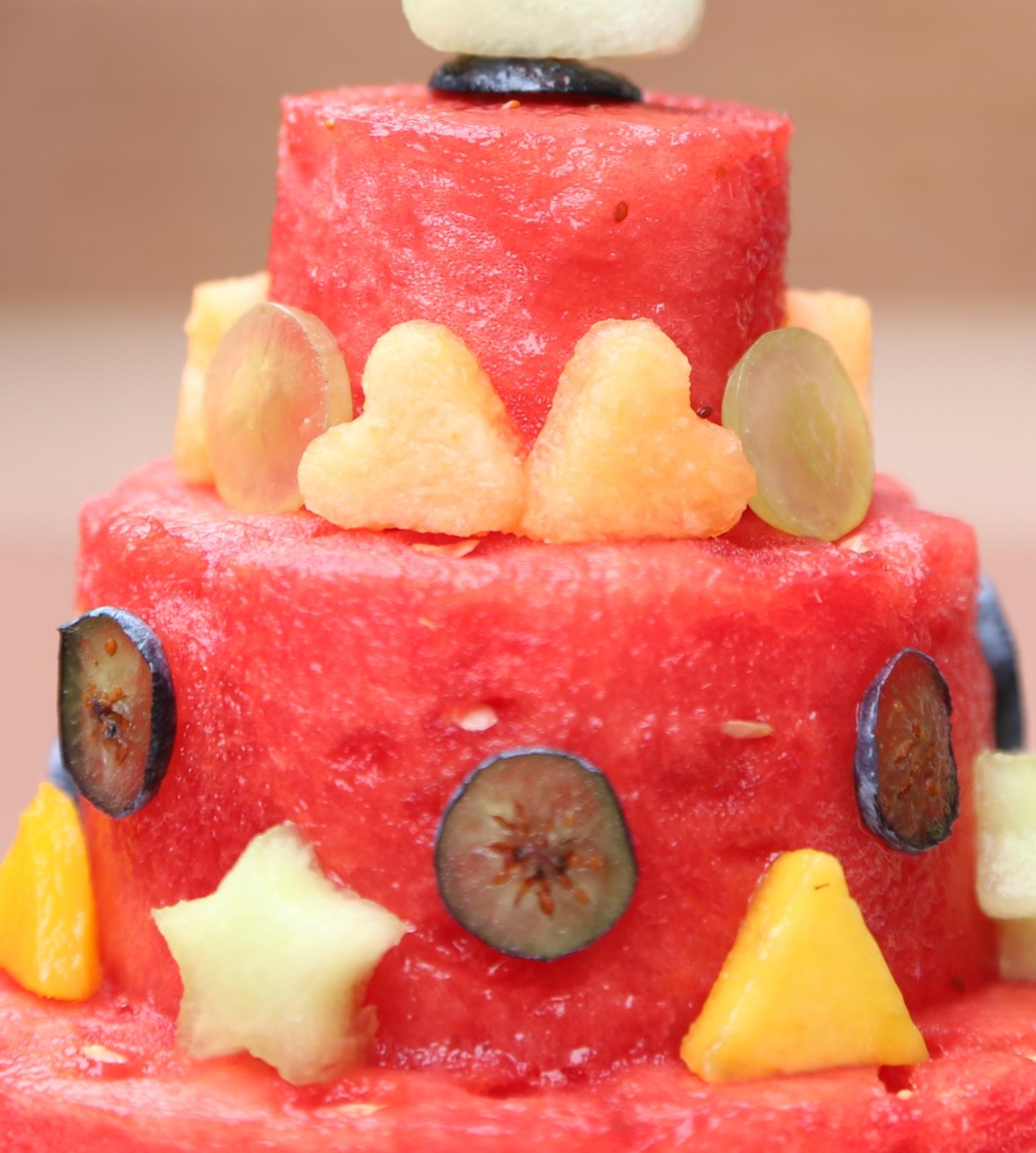 Closeup Watermelon Cake