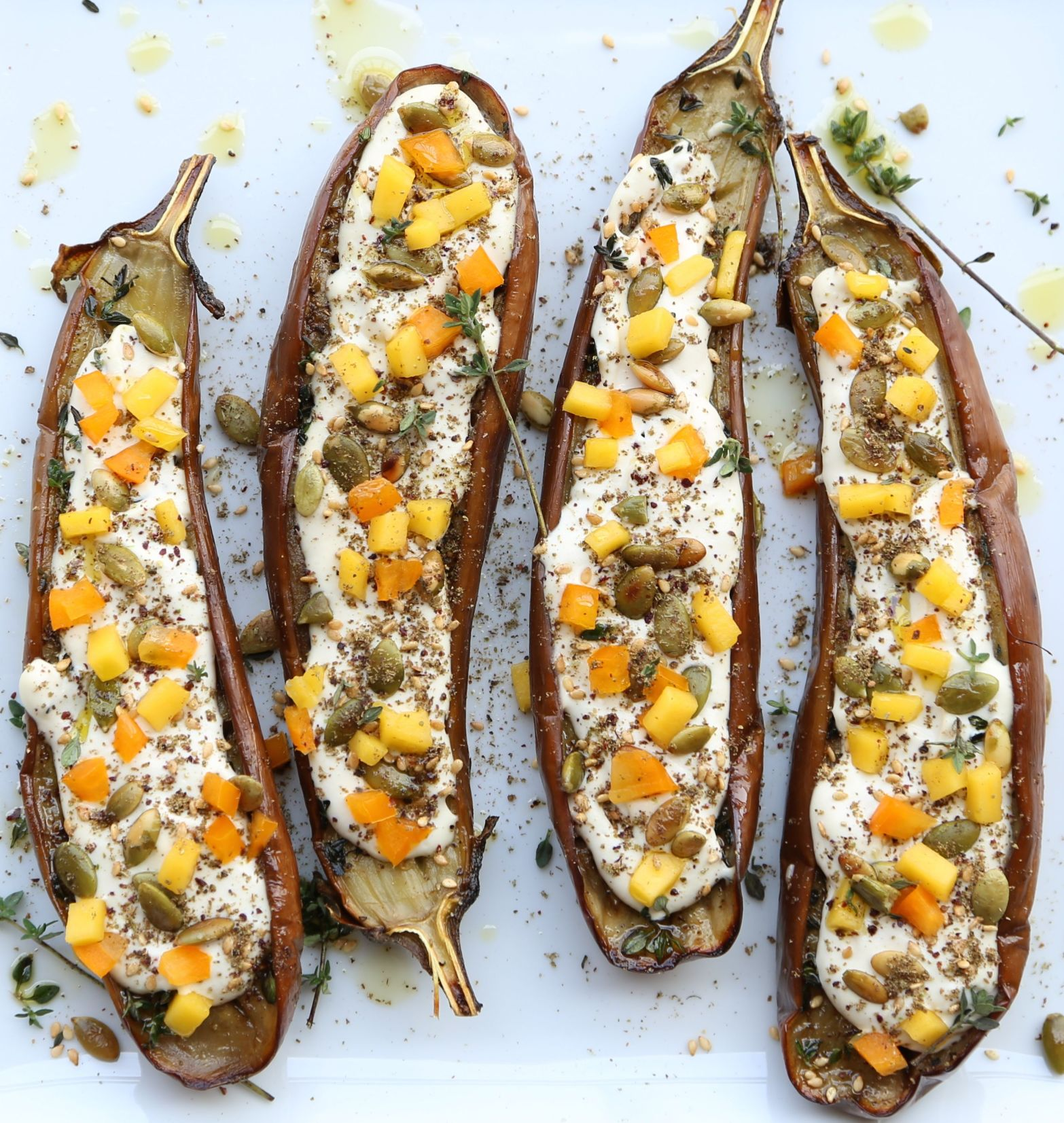 Eggplant with cashew Cream3