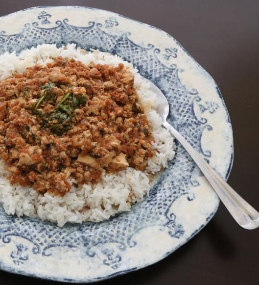 KaYanChin Thee PePyar Hin Tomato, tofu and onion sautéed with fresh cilantro