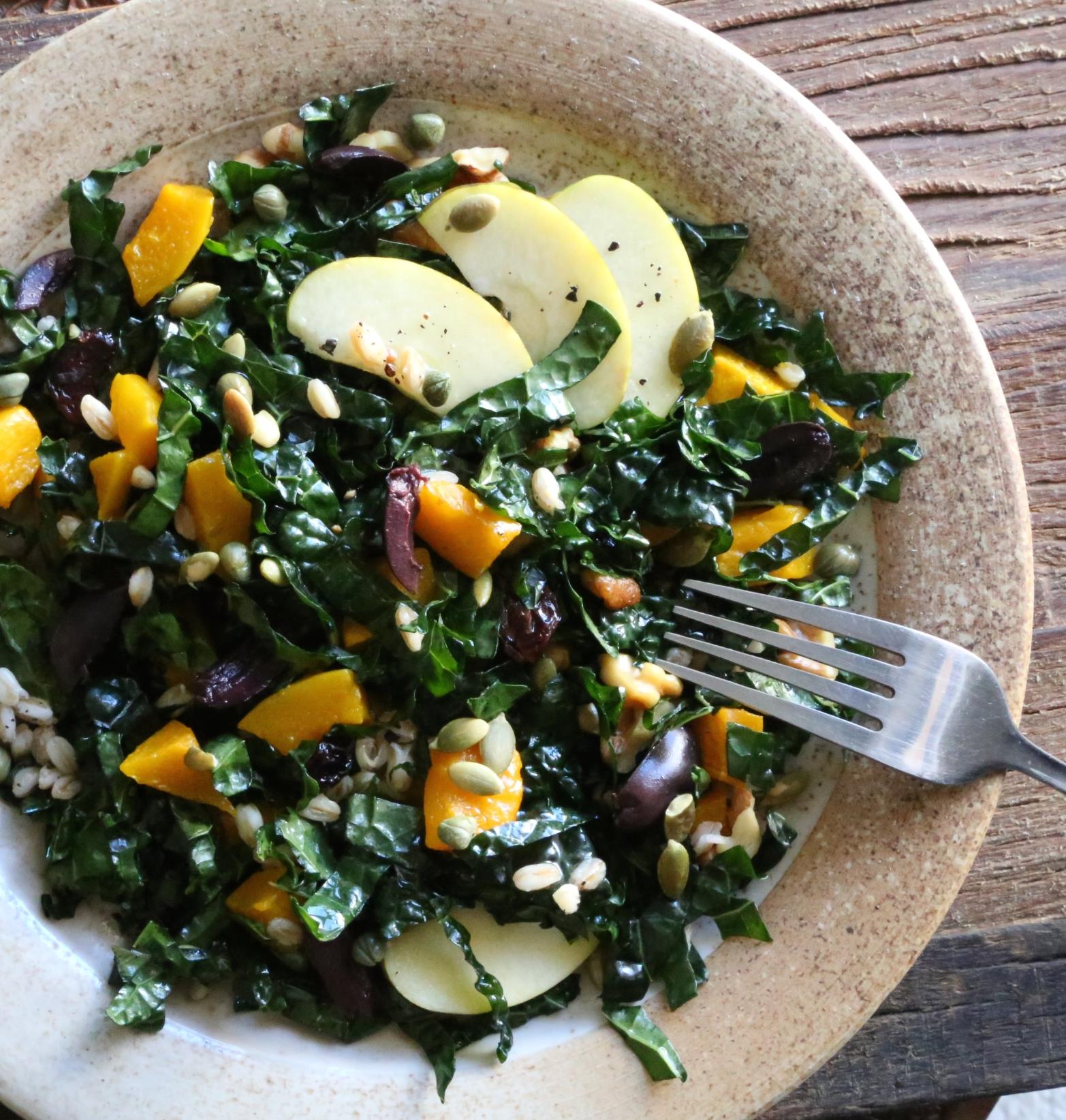 Kale and Kabocha Squash Salad