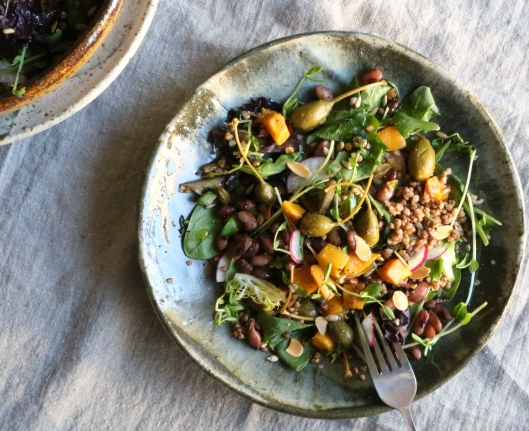 Warm Buckwheat Salad with Roasted Kabocha