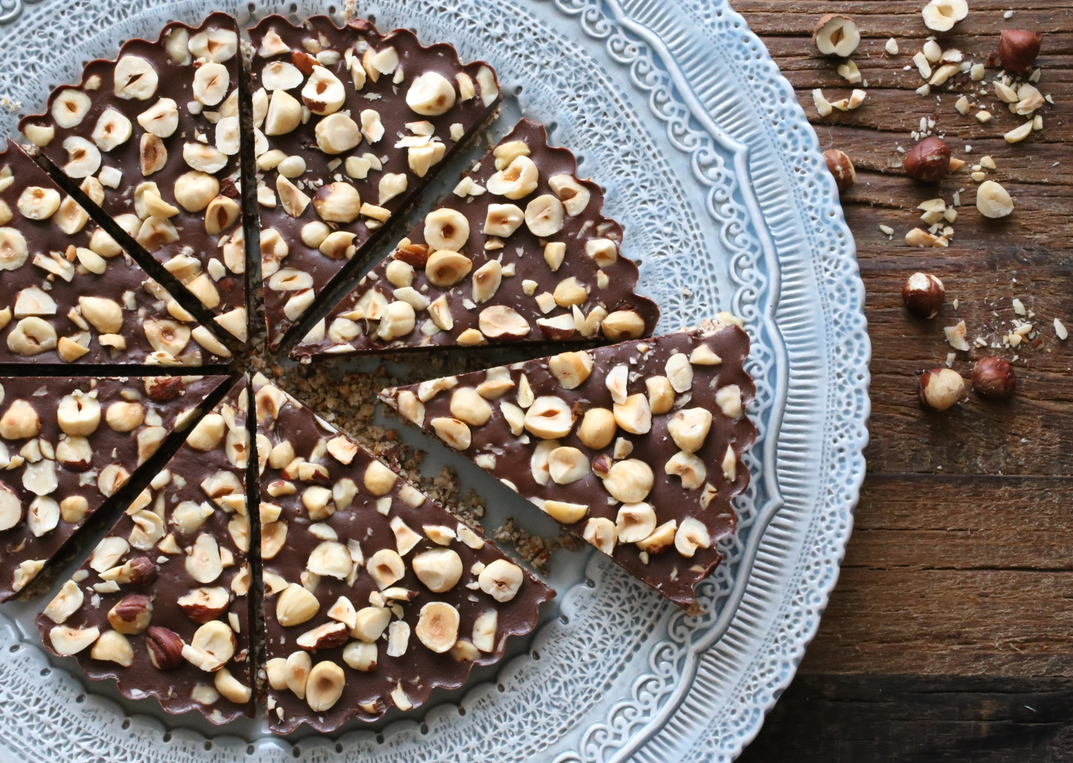 Chocolate Hazelnut Buckwheat Tart