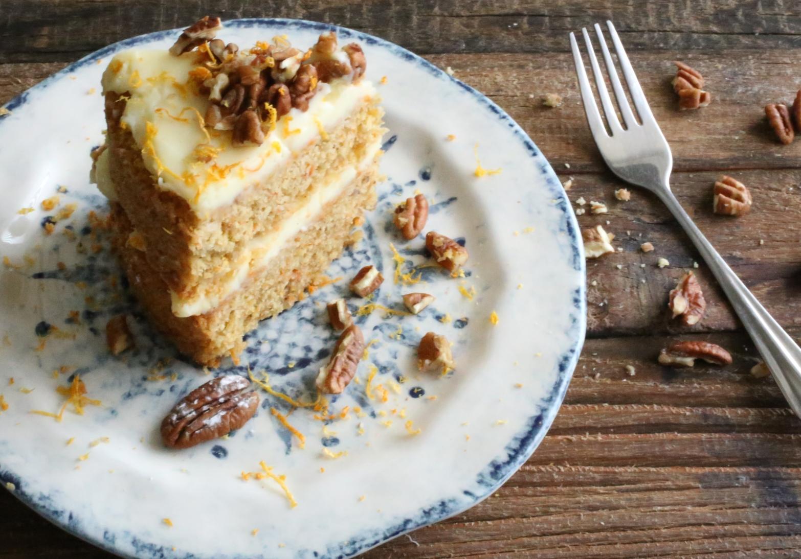 Sweet Potato Cake Slice