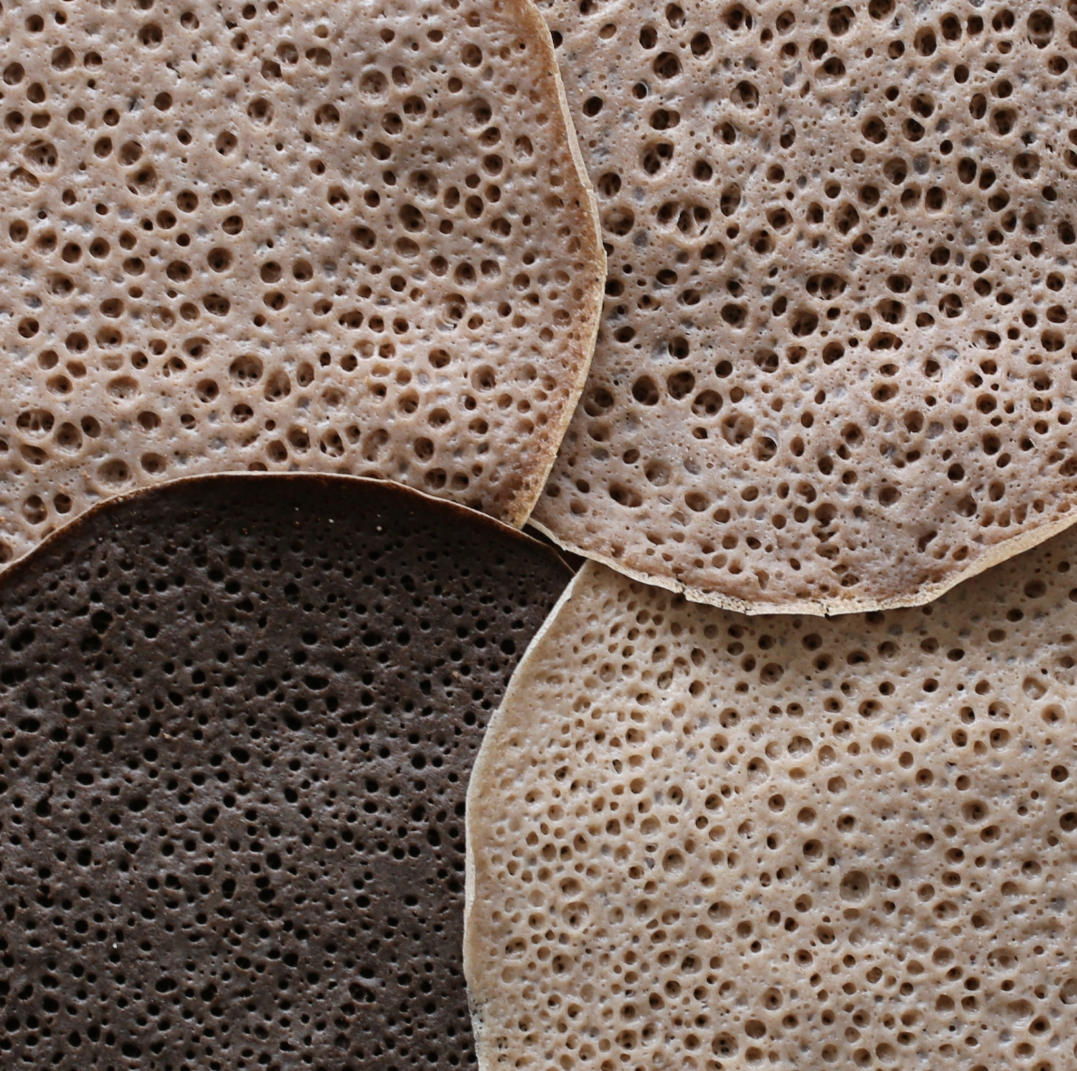 Homemade injera