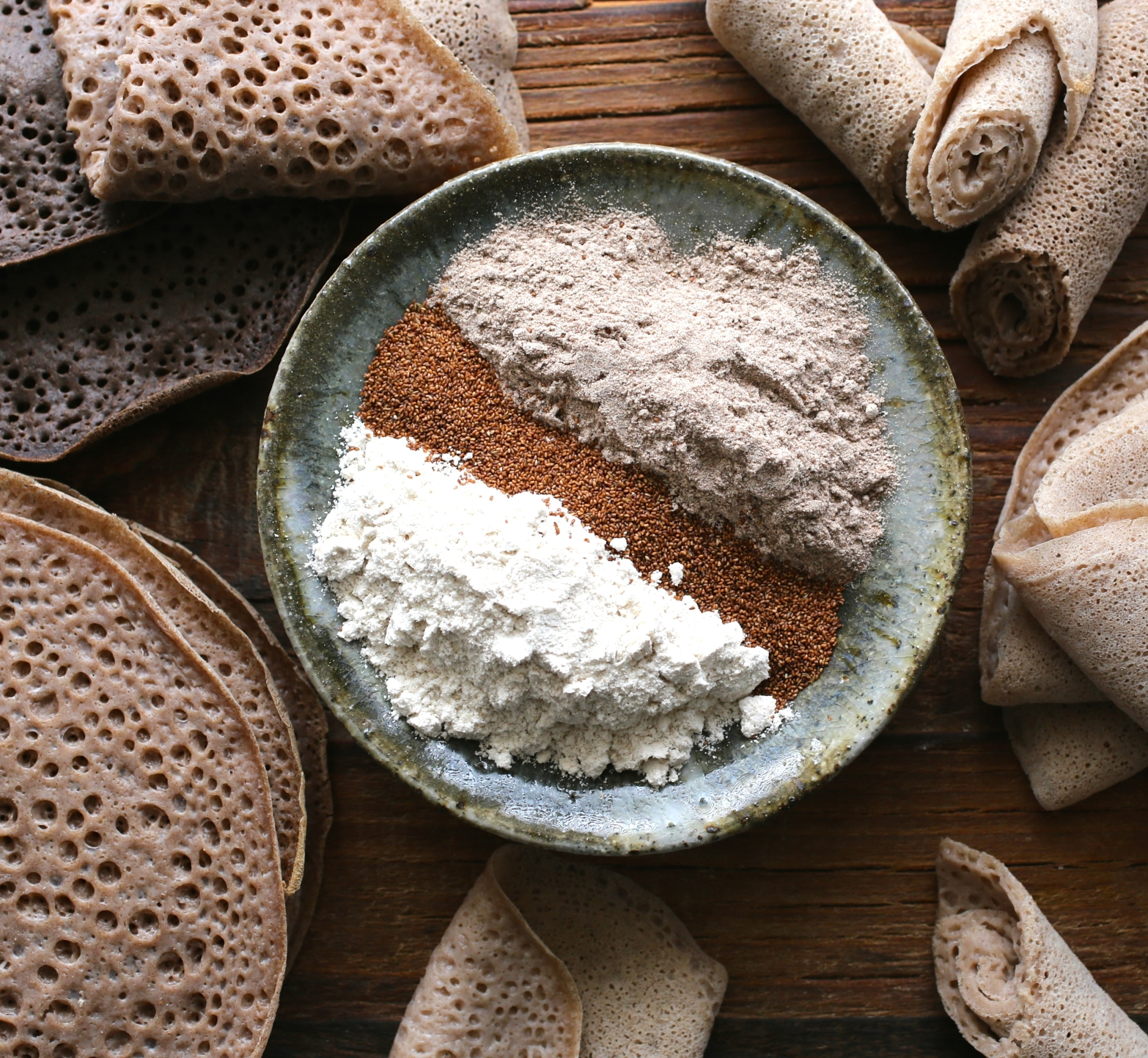 how to make injera with wheat flour