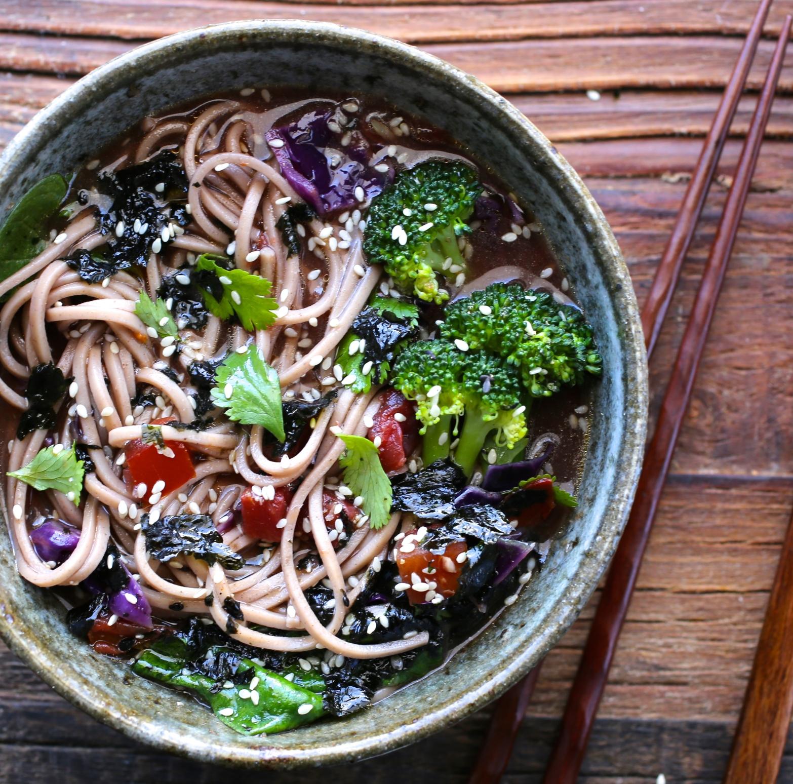 Soba Noodle Soup Bowl
