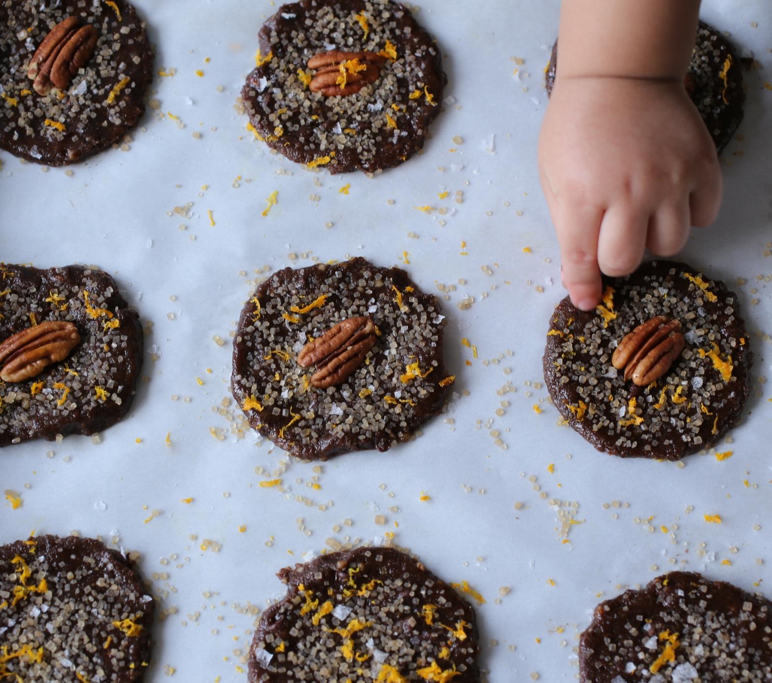 Chocolate Orange Cardamom Cookies