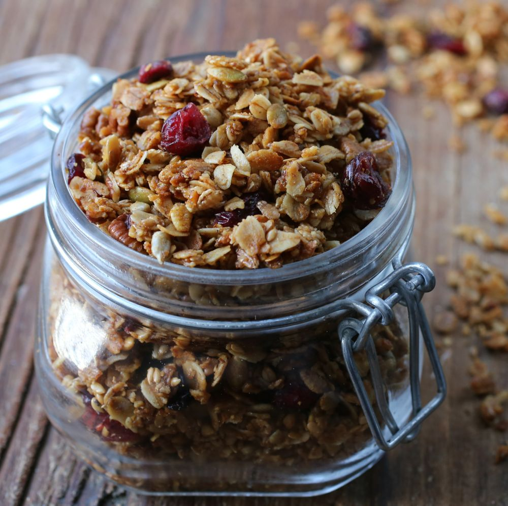 Cranberry Orange-Cardamom Pecan Granola