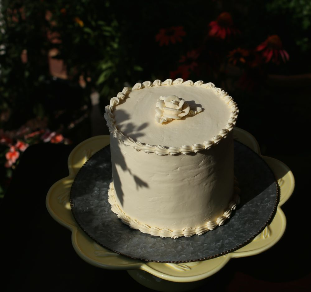 Double Chocolate Cake with Lemon Italian Meringue Buttercream