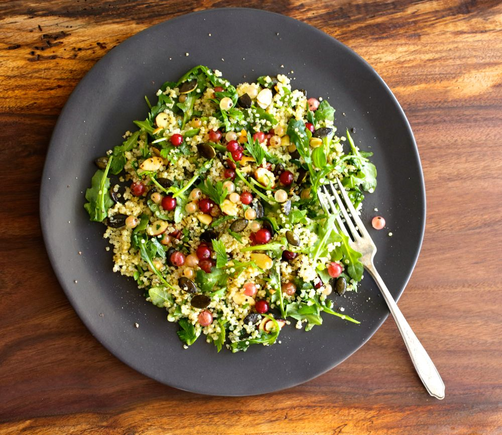 Quinoa Salad with Austrian Pumpkin Seeds and Fresh Currants