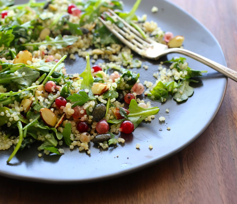 Quinoa Salad with Pumpkin Seeds and Fresh Currants