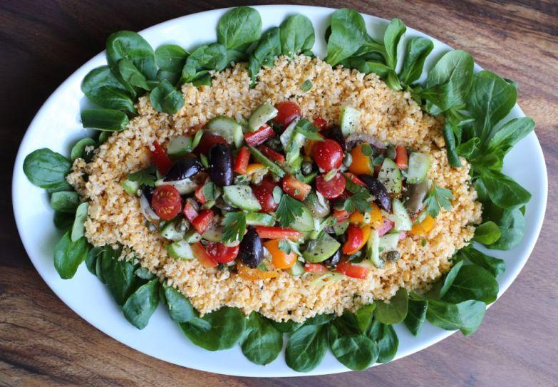 Mediterranean Cauliflower-Couscous Salad