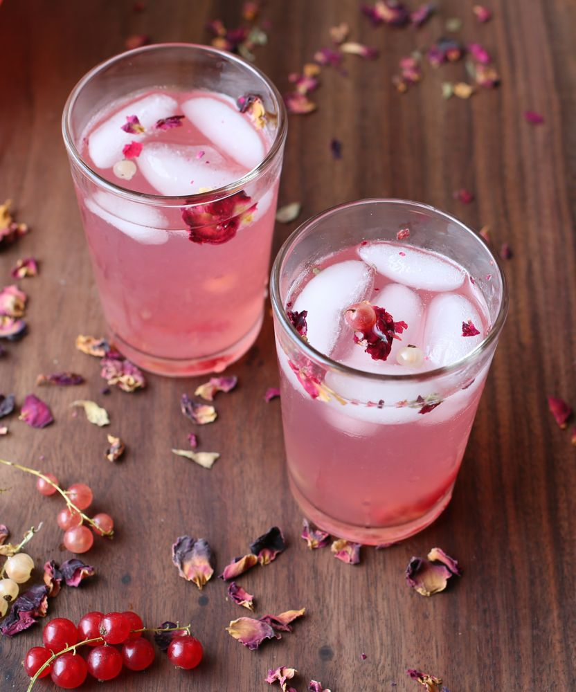 Currant and Rosewater Lemonade