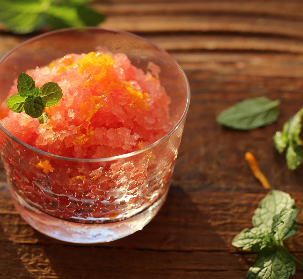 Watermelon Granita with Orange Blossom Water