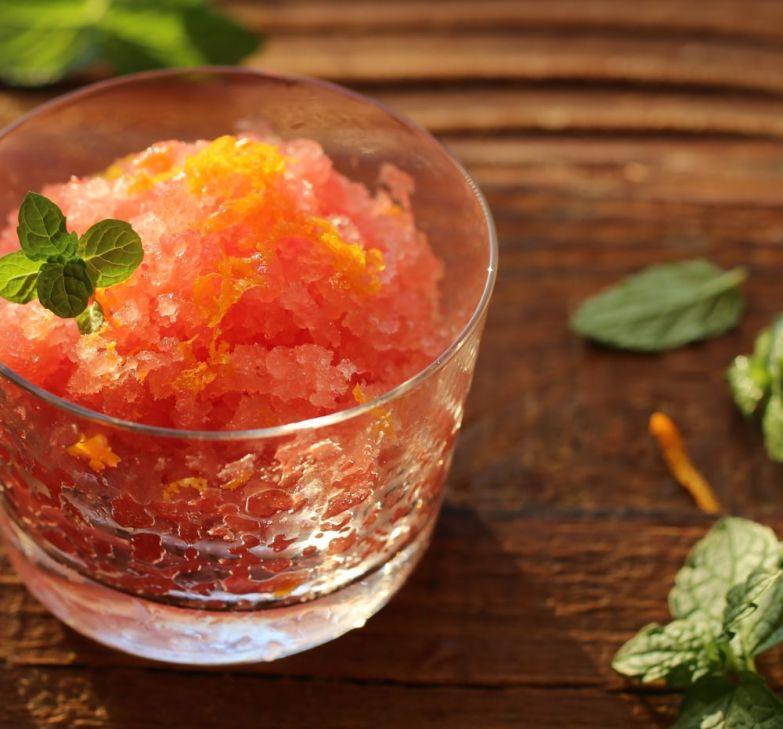 Watermelon Granita with Orange Blossom Water