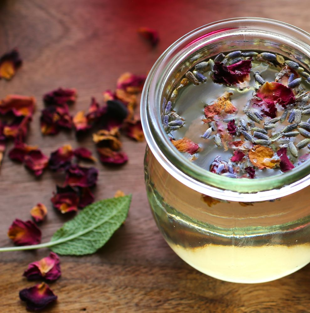 Lavender and Rose Simple Syrup