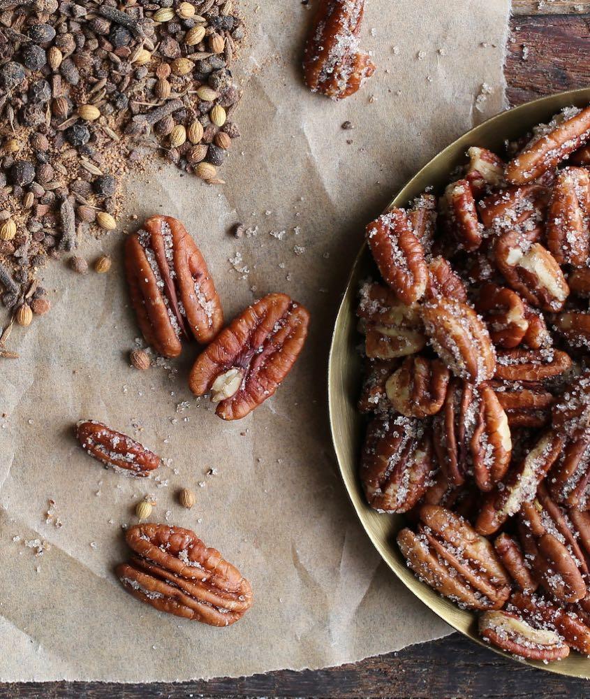 Garam Masala Spiced Pecans