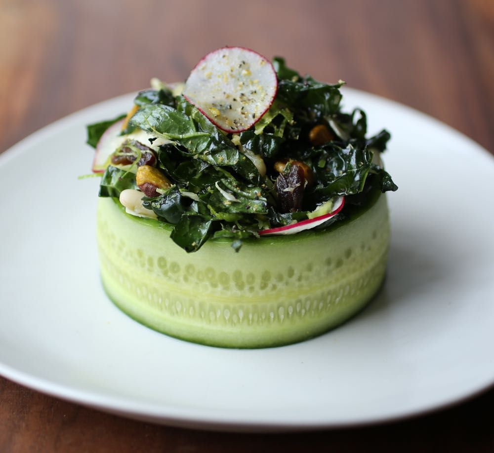 Kale Salad with Orange Blossom Wate