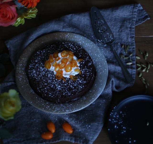 Cardamom Flourless Chocolate Cake