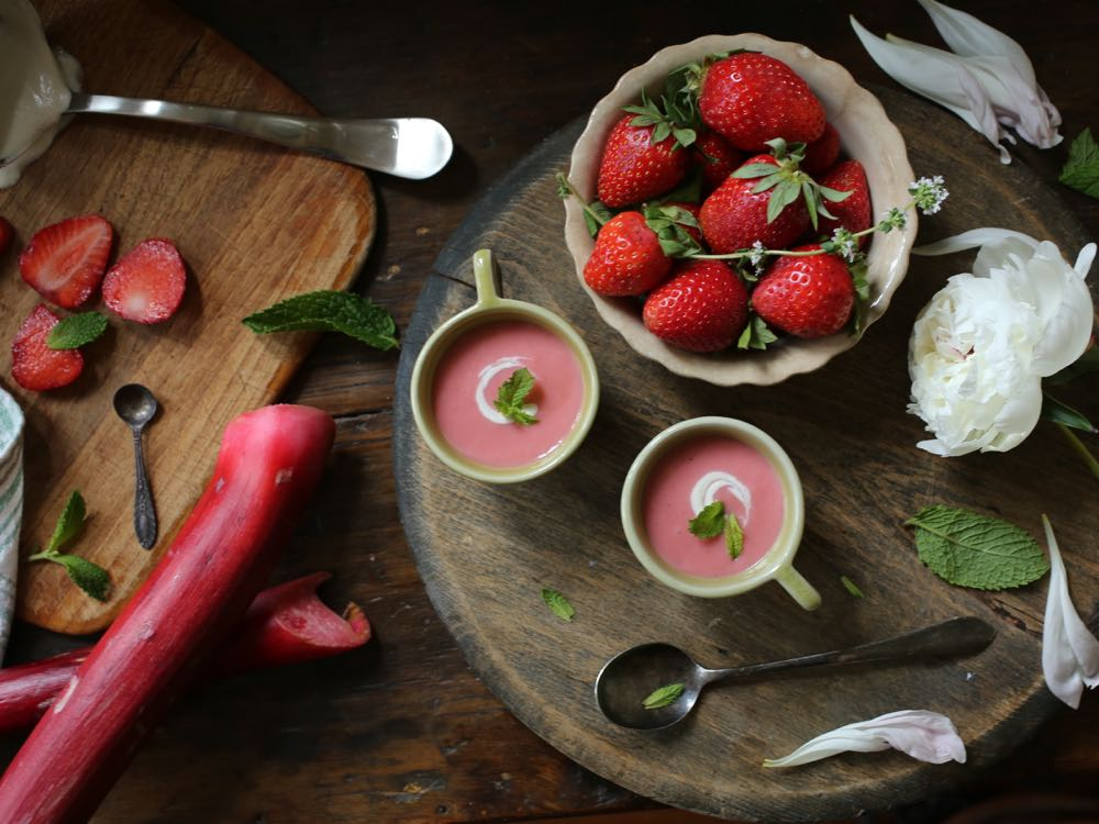 Strawberry Rhubarb Soup